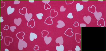 KocoKookie Dog Coat - Pink Hearts - Black Lining