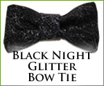 KocoKookie Bow Tie - Black Night Glitter