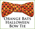 KocoKookie Bow Tie - Halloween Orange Bats