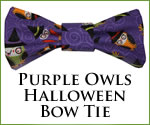 KocoKookie Bow Tie - Halloween Purple Owls