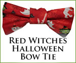 KocoKookie Bow Tie - Halloween Red Witches
