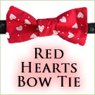 KocoKookie Bow Tie - Red Hearts