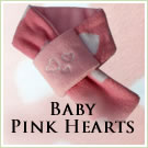 KocoKookie Dog Scarf - Baby Pink Hearts