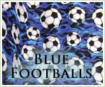 KocoKookie Football Bandanas - Blue Footballs