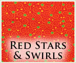 KocoKookie Christmas Bandanas - Red Stars And Swirls