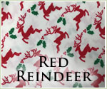 KocoKookie Christmas Bandanas - Red Reindeer