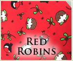KocoKookie Christmas Bandanas - Red Robins