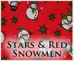 KocoKookie Christmas Bandanas - Red Snowmen And Stars