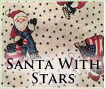 KocoKookie Christmas Bandanas - Santa With Stars