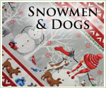 KocoKookie Christmas Bandanas - Snowmen And Dogs