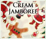 KocoKookie Christmas Bandanas - Cream Jamboree