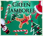 KocoKookie Christmas Bandanas - Green Jamboree