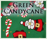 KocoKookie Christmas Bandanas - Green Candy Cane