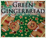 KocoKookie Christmas Bandanas - Green Gingerbread Men