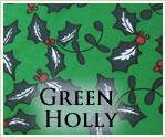KocoKookie Christmas Bandanas - Green Holly