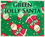 KocoKookie Christmas Bandanas - Green Jolly Santa