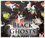 KocoKookie Halloween Bandanas - Black Ghosts