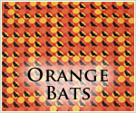 KocoKookie Halloween Bandanas - Orange Bats
