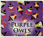 KocoKookie Halloween Bandanas - Purple Owls