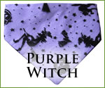 KocoKookie Halloween Bandanas - Purple Witch