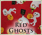 KocoKookie Halloween Bandanas - Red Ghosts