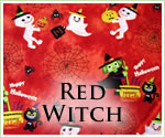 KocoKookie Halloween Bandanas - Red Witch