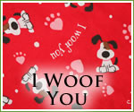 KocoKookie Funky Bandanas - I Woof You Red