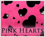 KocoKookie Classic Bandanas - Pink And Black Hearts