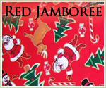KocoKookie Christmas Bandanas - Red Jamboree