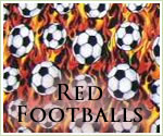 KocoKookie Football Bandanas - red Footballs