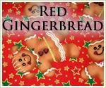 KocoKookie Christmas Bandanas - Red Gingerbread Men
