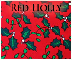 KocoKookie Christmas Bandanas - Red Holly