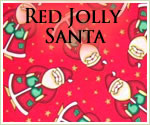 KocoKookie Christmas Bandanas - Red Jolly Santa