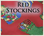 KocoKookie Christmas Bandanas - Red Stockings