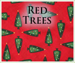KocoKookie Christmas Bandanas - Red Green Christmas Trees