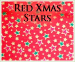 KocoKookie Christmas Bandanas - Red Christmas Stars