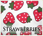 KocoKookie Classic Bandanas - Strawberries