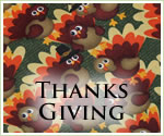 KocoKookie Thanks Giving Bandanas - Turkeys
