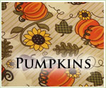 KocoKookie Thanksgiving Bandanas - Orange Pumpkins