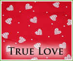 KocoKookie Funky Bandanas - True Love Red Hearts