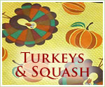 KocoKookie Thanks Giving Bandanas - Turkeys And Squash