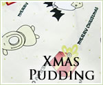 KocoKookie Christmas Bandanas - Cream Pudding