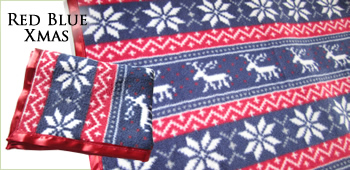 KocoKookie Pet Blankets - Red Blue Christmas