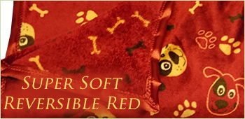 Super Soft Reversible Red Pet Blanket