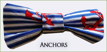 KocoKookie Bow Tie - Anchors