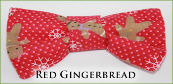 KocoKookie Bow Tie - Christmas Red Gingerbread