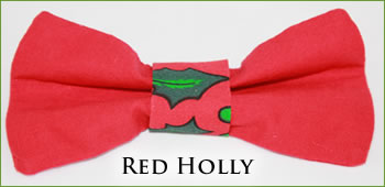 KocoKookie Bow Tie - Christmas Red Holly