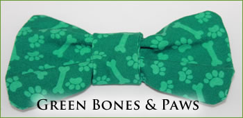 KocoKookie Bow Tie - Green Bones And Paws