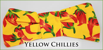 KocoKookie Bow Tie - Yellow Chillies