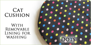 KocoKookie Cat Toys - Cat Cushion Coloured Spots